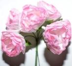 Букет роза бумажная бол.розовый (12шт в уп)