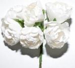 Букет роза бумажная бол.белая(12шт в уп)