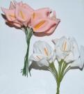 Букет калла силикон бол.розовая(12шт)