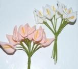 Букет калла силикон сред.белая(12шт)
