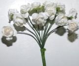 Букет роза бумажная малая белая(12шт в уп)