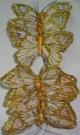Бабочки перьевые бел. 13см (12шт)