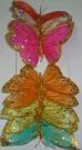 Бабочки перьевые цветные 13см (12шт)