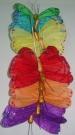 Бабочки перьевые цветные 10см (12шт)