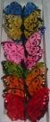 Бабочки перьевые на магните 7см (12шт)
