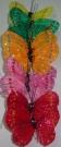 Бабочки перьевые на стикере 7см (12шт)