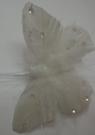 Бабочки перьевые белые 8см (12шт)
