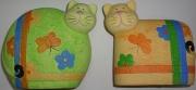 Копилка Кот цветной 20см(керамика)