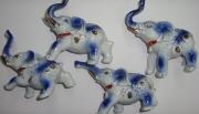 Сувенир Слон фарфор 12см (набор 4шт)