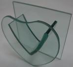 Ваза для композиций сердце стекло 10см
