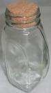Ваза Бутылка с пробкой 19см стекло