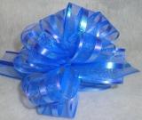 Бант-шар органза 3см (90см) синий