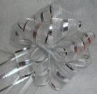 Бант-шар органза 3см (90см) серебро