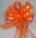 Бант-шар органза 5см (90см) оранжевый