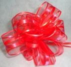 Бант-шар органза 3см (90см) красный