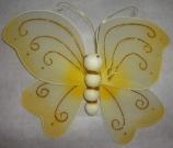 Бабочка ткань 22см жёлтая