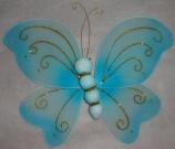 Бабочка ткань 22см голубая