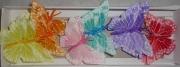 Бабочки перьевые 8см (12шт)