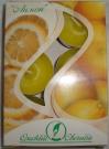 Свеча в гильзе аромат-ная Лимон (набор 6шт)