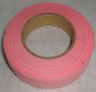 Тейп лента 1см/45м розовая