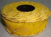 Лента сетка с каркасом 4см/5м жёлтая