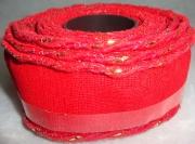 Лента сетка с каркасом 4см/5м красная