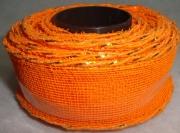 Лента сетка с каркасом 4см/5м оранжевая