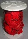 Шнур Сизаль с цветком 10м красный