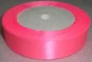 Лента Атласная 2.5см/23м ярко-розовая