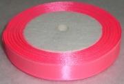 Лента Атласная 1.5см/23м ярко-розовая