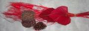 Композиция из сухоцветов 80см красная
