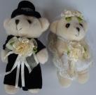 Мишки Свадебная пара 15см