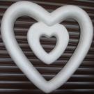 Каркас Сердце в сердце св.45см