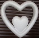 Каркас Сердце в сердце низ 45см