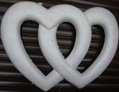 Каркас Сердце двойное 45см