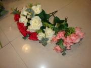 Букет Роза с эвкалиптом 30см