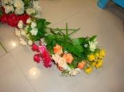 Букет Роза с бел. цветами 25см